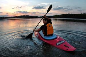 Toning muscles by kayaking